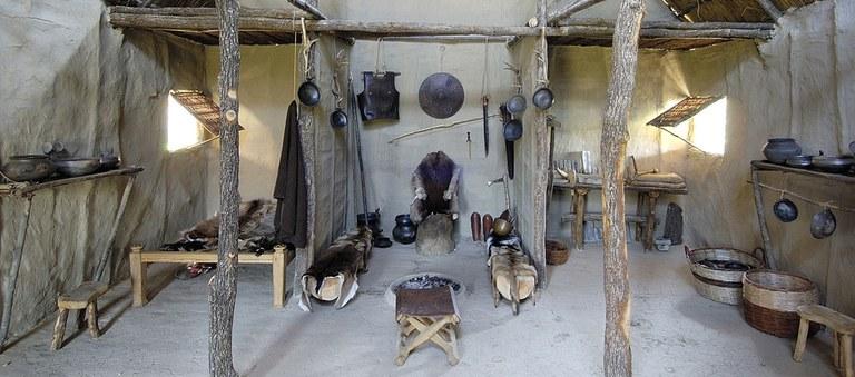 Open air museum: reconstruction of the indoor