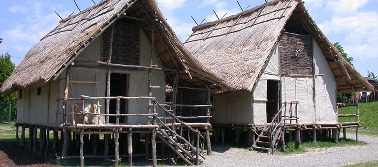 Open air museum: reconstruction of the two houses