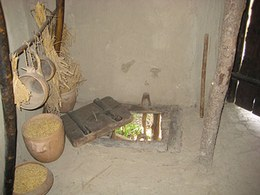 A trapdoor was inserted in the floor of one of the dwellings for tipping cinders and other refuse.